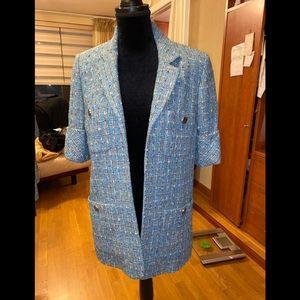 Chanel FANTASY tweed blazer short sleeve jacket